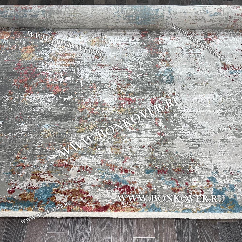Турецкий ковер из эвкалиптового шелка «SIRIUS» 1940-COK-GRI