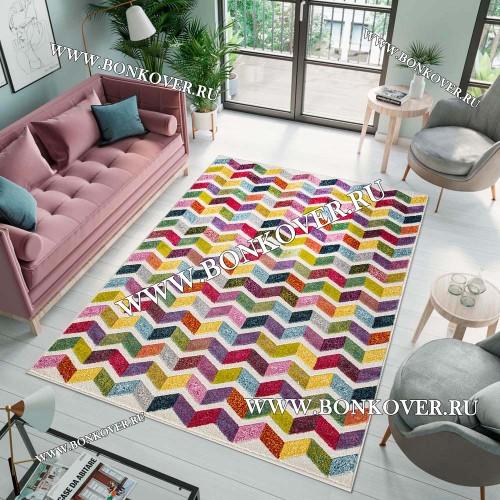 Геометрический ковер Карпет new 03 Разноцветный Дизайн 05